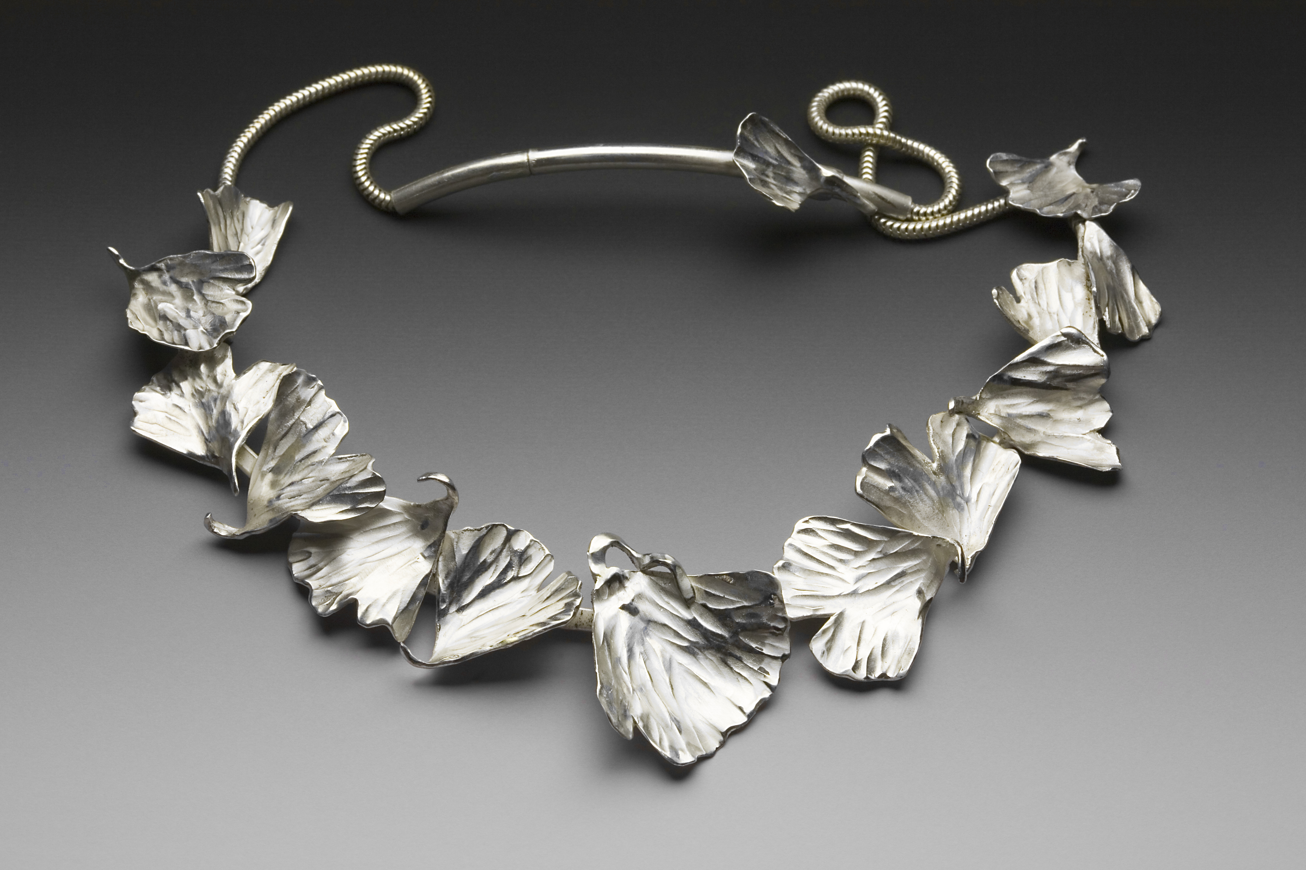 STERLING GINKGO NECKLACE