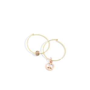 Dodo earrings with PEACE charm