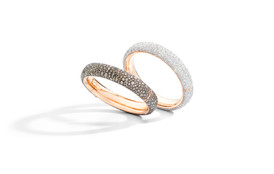 ICONICA bangles with white and brown dia