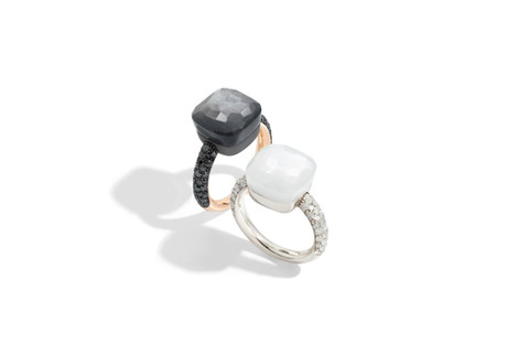 NUDO rings with moonstone and diamonds by Pomellato 2018