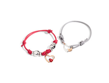 Pop Silhouette cahrm and cord bracelet.j