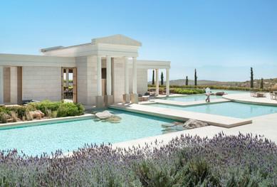 Amanzoe, Greece - Arrival Pavilion_High