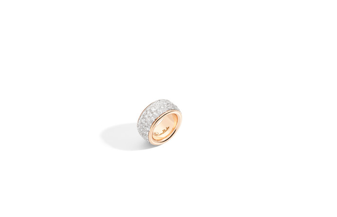 ICONICA band ring with white diamonds -