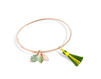 Dodo bracelet with charms LEAF and FOUR-LEAF
