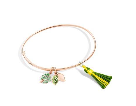 Dodo bracelet with charms LEAF and FOUR-LEAF