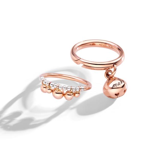 DoDo Anello Bollicine e anello con campa