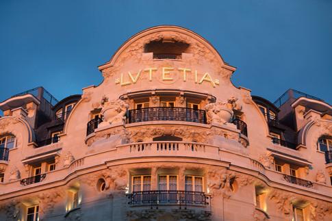 Hotel Lutetia - Facade end of the day.jp