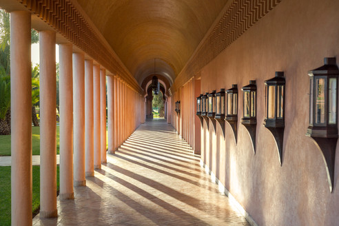 Amanjena, Morocco - Exterior Corridor Le