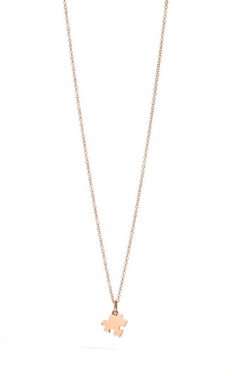 DODO  CHAIN AND PUZZLE CHARM IN PINK GOL
