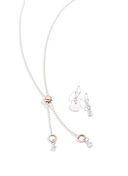 Bollicine Lariat necklace in silver and