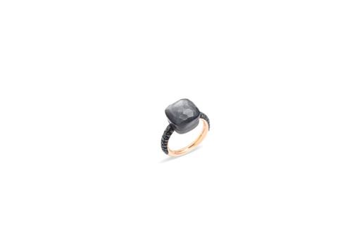 NUDO ring with gray moonstone and black diamonds by Pomellato 2018
