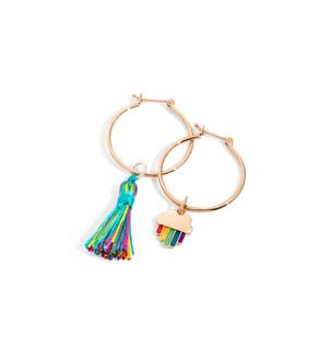 Dodo earrings with RAINBOW charm