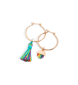Dodo earrings with RAINBOW charm