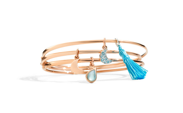 Dodo bangles with charms MOON and DROP