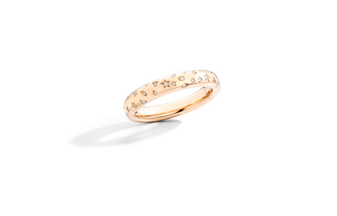 ICONICA bangle rose gold and white diamo