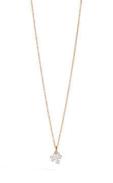 DODO CHAIN IN PINK GOLD AND PUZZLE CHARM