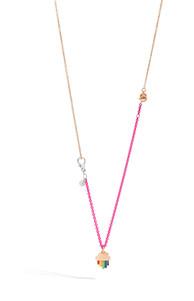 Dodo necklace with RAINBOW charm