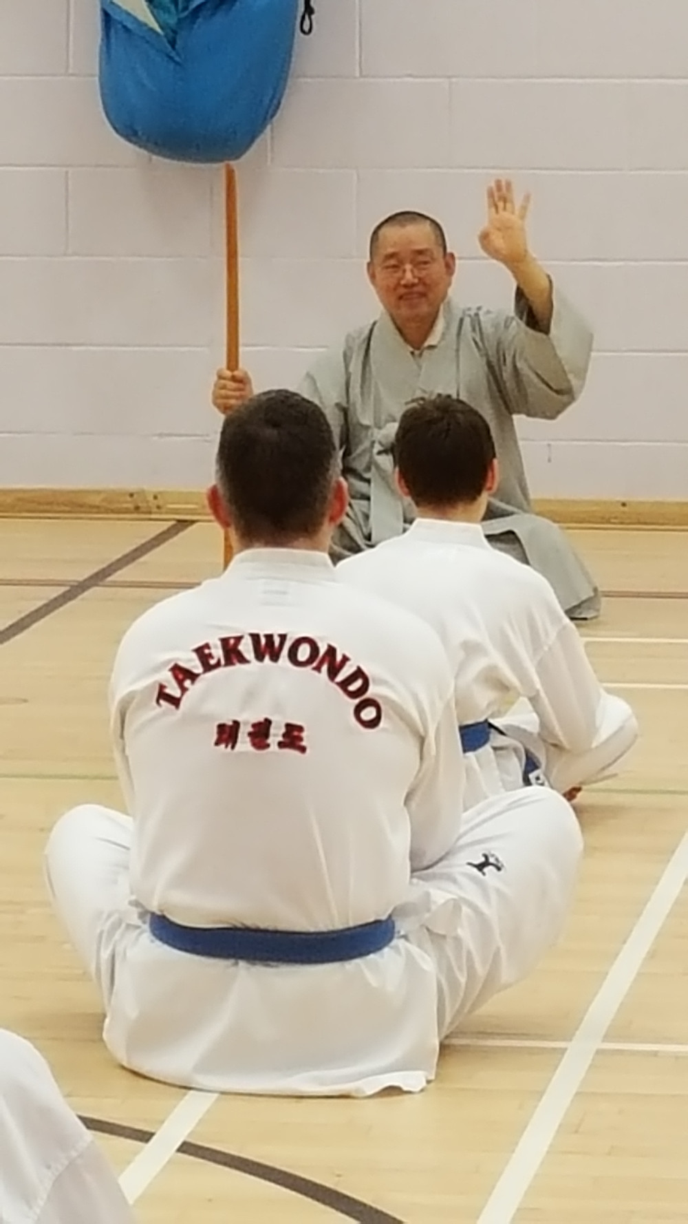 buddhist monk taekwondo training