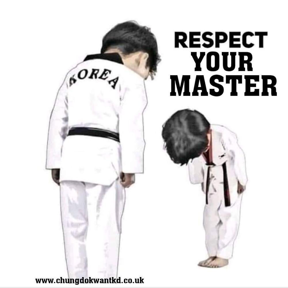 respect your taekwondo master