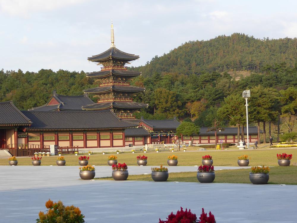 buddhist temple korea taekwondo
