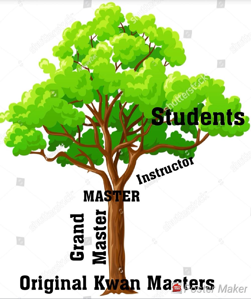 martial arts tree