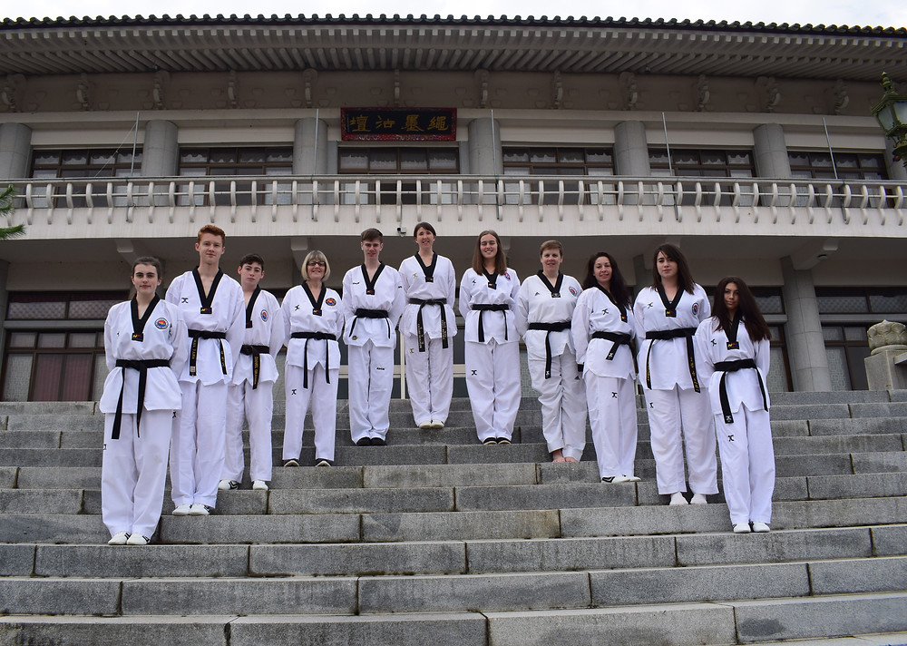 black belts Korea Buddhist temple