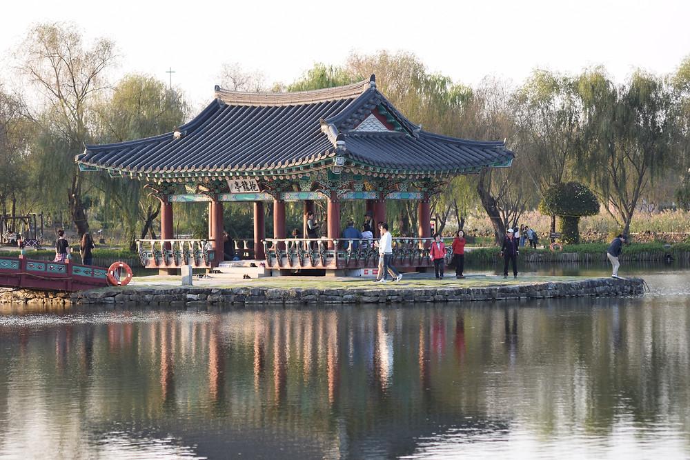 korea taekwondo temple buddhist