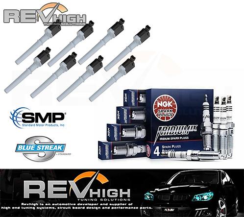 8x PERFORMANCE Ignition coils + NGK Iridium Spark Plugs set kit FORD 5.4l BA BF