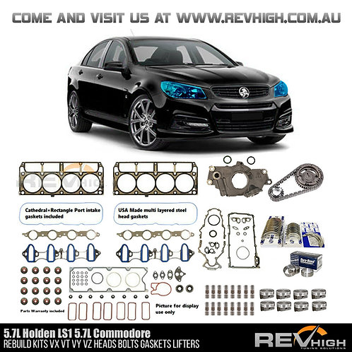 5.7L Holden LS1 5.7L Commodore rebuild kits VX VT VY VZ Heads Bolts Gaskets Lift
