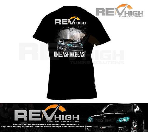 Revhigh Tshirt Shirt Mens Tuning Holden V6 V8 Black Graphic Art Air Intake