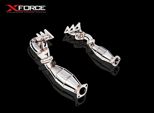 Holden V6 1-5/8″ NON-POLISHED STAINLESS STEEL HEADER W/ METALLIC CATS EXHAUST