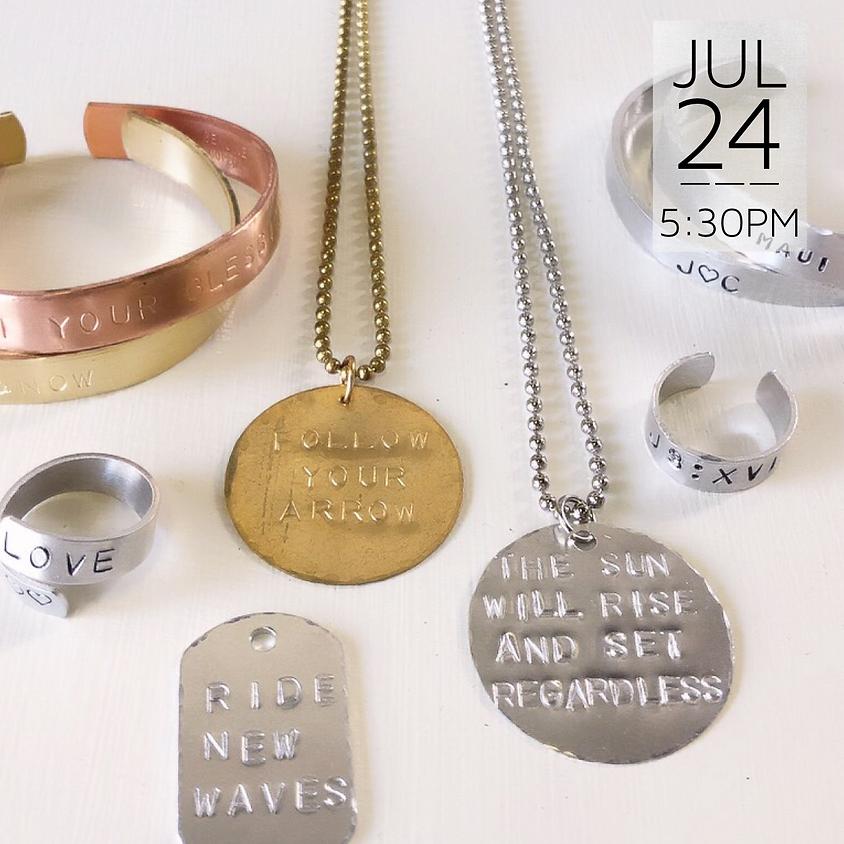 Jewelry Metal Stamping || $45