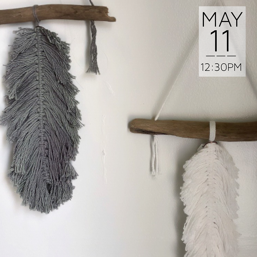 Macrame Feather Wall Hanging    $30