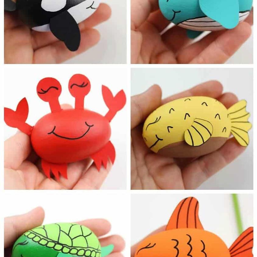 KEIKI Kraft: Wood Egg Painting    $12