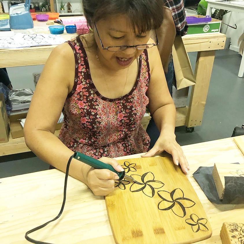 Private Beginner's Wood Burning Workshop (Kelly Miller) || $35