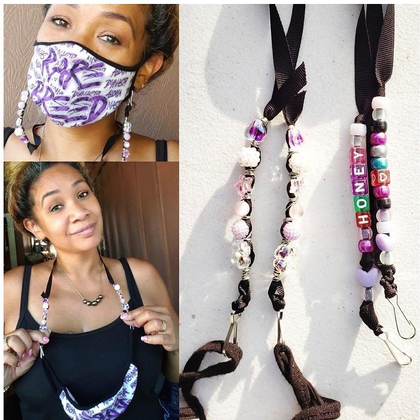 Beaded Face Mask Strap/Lanyard  $15
