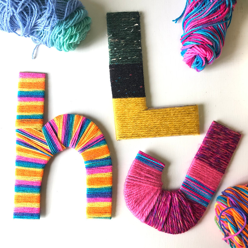 Upcycle Saturdays: Yarn-Wrapped Letter    $5