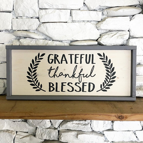 Grateful - Blessed w/ Leaves