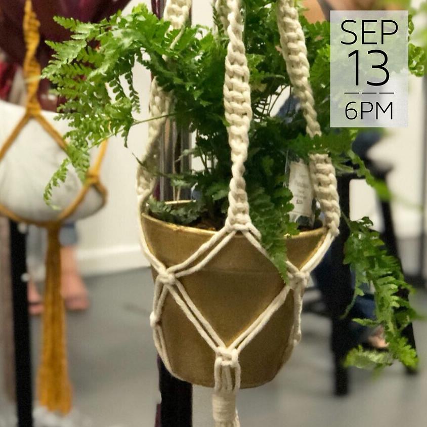 Macrame Plant Hanger Workshop    $35