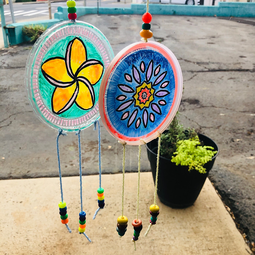 Upcycle Saturdays: Plastic Lid Sun Catcher    $5