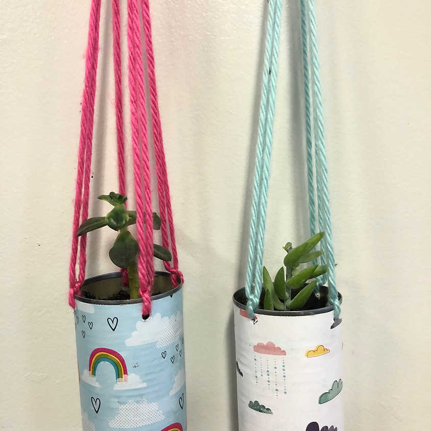 Upcycle Saturdays: Tin Can Planters    $5