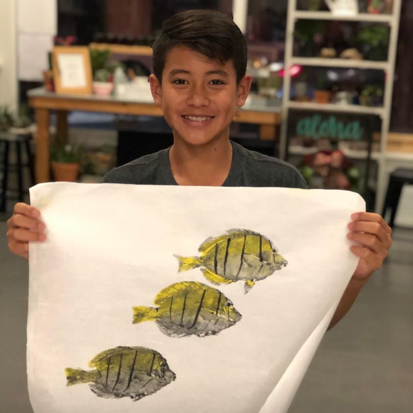 Gyotaku Workshop w/ Desmond Thain    $75
