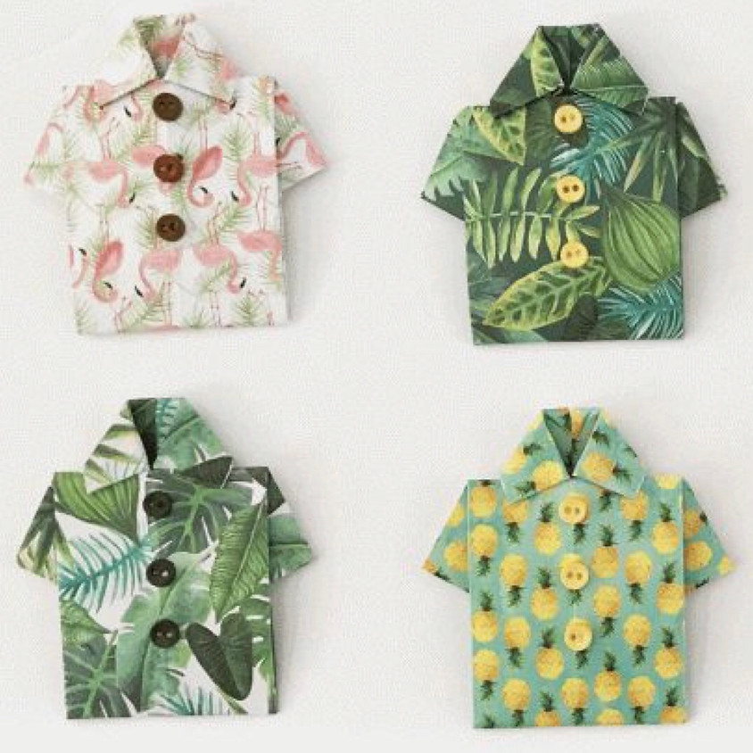 KEIKI Krafts: Origami Aloha Shirt    $10