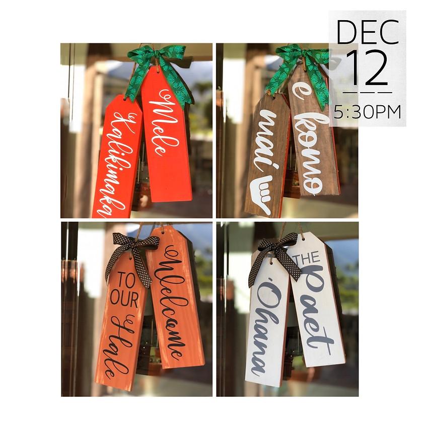Christmas Door Wood Tag Workshop || $32