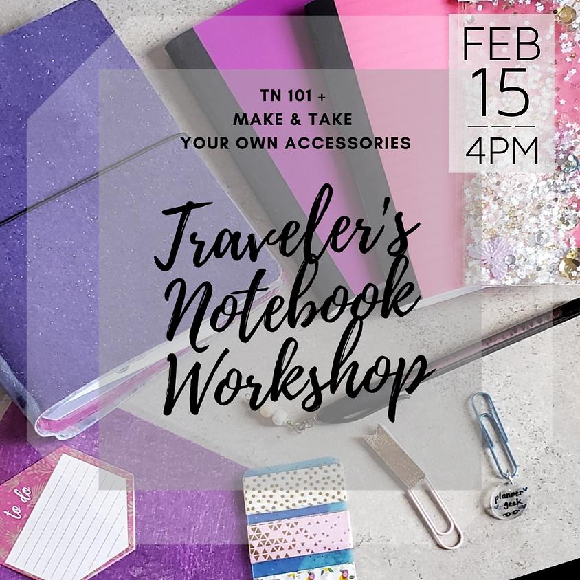 Traveler's Notebook Workshop - TN 101 + Make & Take Your Own Accessories || $50