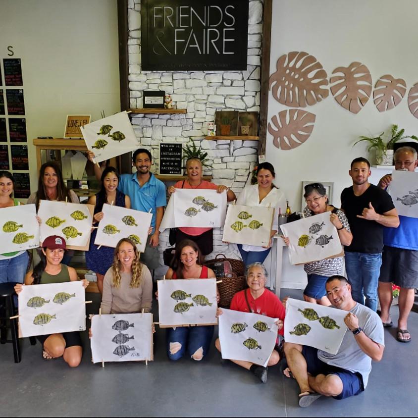 Gyotaku Workshop w/ Desmond Thain || $75