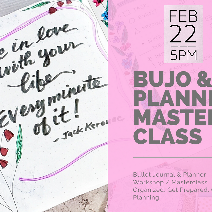 Bullet Journal (BUJO) & Planner Workshop/Masterclass    $75