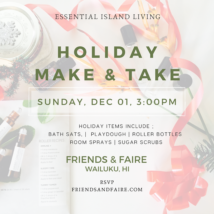 Essential Island Living Holiday Make & Take  || RSVP