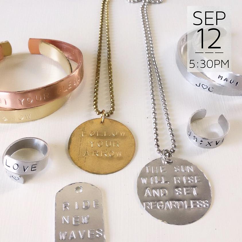 Jewelry Metal Stamping    $45