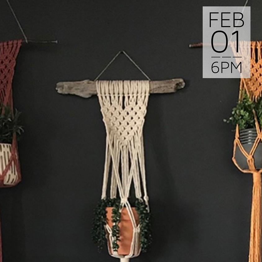 Macrame Heart Plant Hanger Workshop    $35